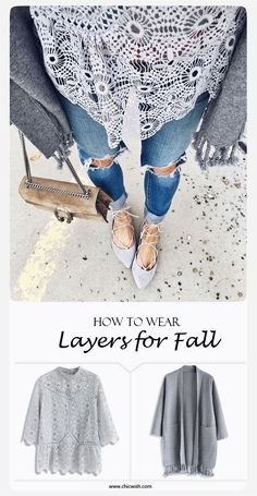 How to Wear Layers for Fall  Art of Crochet Top and Easy to Be Chic Tassel Trimm... #Cardigans, #Fall, #Tops  #China #Crochet #Sweater #Knitwear #Knitting #Style #Fashion #Clothing #CrochetFactory #KnitwearManufacturer #SweaterFactory #KnittingFactory #ClothingFactory #KnitwearFactory #SweaterManufacturer #CrochetManufacturer #ClothingManufacturer #KnittingManufacturer #WomenSweater #Cardigan #Pullover #CrochetLace #CrochetClothing #CrochetFashion #WomensTop #Blouse #Dress