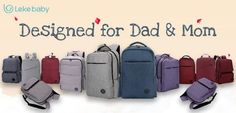 Lekebaby Dad Diaper Bag Collection - Designed for Stylish Dad