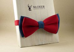 Hey, I found this really awesome Etsy listing at https://www.etsy.com/listing/280908034/blue-and-red-bow-tie-ready-tied-bow-tie
