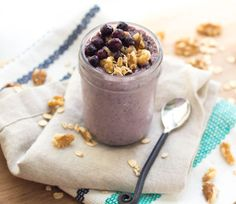 Blueberry-Walnut Overnight Oats