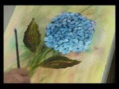 Hortênsia - Pintura Gestual em Tela - YouTube