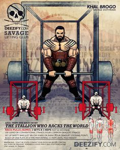 leg/back exercise: racks pulls with khal drogo