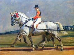 Detail Their Majesties' Return from Ascot, 1925. The Windsor Greys Sir Alfred Munnings
