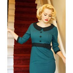 Dress: @bannedapparel (Secretary Pencil Dresspetrol green)  Photographer:@romance_shoots  #bannedapparel #truevintageootd #1940shair#blonde#1940s#vintagemodern#vintagegirl#vintagestyle#adorepinup  via ✨ @padgram ✨(http://dl.padgram.com)