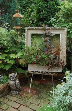 15 Ideas Diy Garden Art Landscaping Inspiration For 2019 Garden Crafts, Diy Garden Decor, Garden Projects, Garden Art, Garden Decorations, Unique Gardens, Rustic Gardens, Beautiful Gardens, Outdoor Gardens