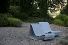 An Organic Kitchen Garden - Gallery | Garden Design: 1954 Willy Guhl concrete chairs