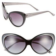 c2533437192 kensie  Maureen  59mm Cat Eye Sunglasses (245 BRL) ❤ liked on Polyvore