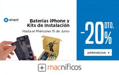 Un 20% de descuento en baterías iPhone y kits de instalación