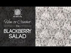 How to Crochet the Blackberry Salad - NewStitchaDay.com - This video crochet tutorial will help you learn how to crochet the blackberry salad stitch. This stitch creates a fun textured pattern. The blackberry salad stitch would be great for afghans, scarves and baby blankets!