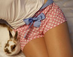 Cute in bed. Pyjama sleeping shorts (clothing women underwear). $24.99, via Etsy.