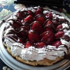 Strawberry Chocolate Éclair Fantasy Recipe #justapinch #recipe #valentine