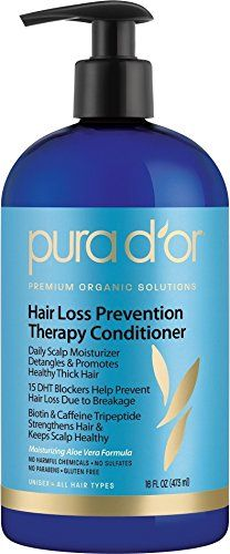 PURA D'OR Hair Loss Prevention Therapy Conditioner, 16 Fluid Ounce -- You can get more details by clicking on the image.