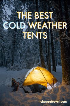 Have you ever wanted to camp or go backpacking in some winter temperatures? If so, you'll need a special cold weather tent. These tents will make sure that you can survive a night in some winter conditions. Camping Needs, Best Tents For Camping, Cool Tents, Tent Camping, Outdoor Camping, Camping Tips, Camping Stuff, Glamping, Outdoor Gear