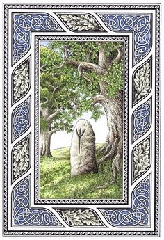 'Algiz Rune' - by Jan Fibiger. Jan Fibiger is a Czech artist specializing in Northern European pagan themed art, featuring runic stones, standing stones, Norse knot work, Viking ships, etc. Check out his other art and order prints here: http://fibacz.deviantart.com/prints/?utm_source=deviantart_medium=userpage_campaign=printstab