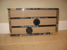 Puck Display Case by adwoodcraft on Etsy, $25.00