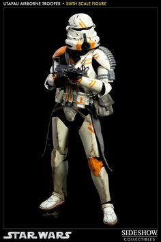 Figura Star Wars. Utapau Airborne Trooper, 30cm. Sideshow Collectibles