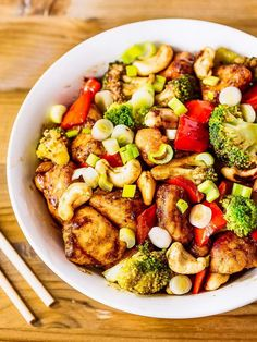 This Cashew Chicken recipe has all the flavors of Chinese take-out and it's…