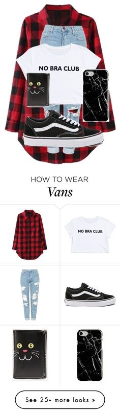 """"" by jennifer1105 on Polyvore featuring Topshop, Vans, Recover and WithChic"