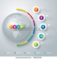 Abstract 3D digital illustration Infographic. Vector illustration can be used for workflow layout, diagram, number options, web design.  by ...