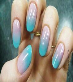 blue purple nailart Nailart designs ideas for beginners