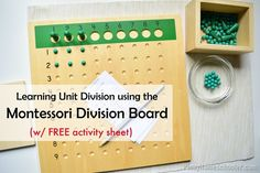 Montessori Unit Division Board with Free Activity Sheet from The Pinay Homeschooler