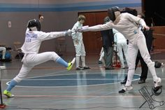 Epee fencing at the Dominick Open, April 27, 2013. Outside of Chicago, Illinois Fencers Club. stabbysox photo #1453