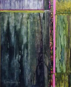 """Swamp Airs by Lou Jordan Alcohol Inks ~ 20"""" x 16"""""""
