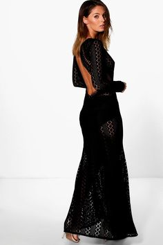 Boutique Danerys Lace Open Back Maxi Dress | @giftryapp