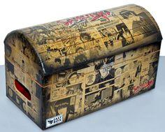 Caixa Baú MDF Mangá decorada Samurai X