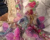 RESERVED - soft handknit artyarn garland lariat scarf  -  cloud garden party