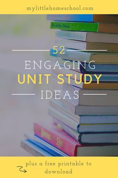 Are you looking for a unit study for every week of the year? Then this post is for you! And there is also a checklist to download, as well as a unit study planner printable. #homeschool #homeschooling #unitstudy #unitstudies Study Planner, Unit Studies, Special Needs, Printable Planner, Homeschooling, How To Become, Parenting, Success, The Unit