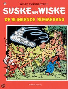 Suske en Wiske: De Blinkende Boemerang (161). Suske, Wiske en tante Sidonia zien op tv een oproep voor twee gevaarlijke criminelen, per abuis wordt er een foto van de pop van Lambik uit de poppenfilm getoond en professor S. Kinknook werkt aan een nieuwe expeditie. Lambik wordt aangezien voor de misdadiger en vlucht door de stad en verstopt zich in een kartonfabriek. Met een kartonnen vliegtuig kan hij aan de agenten ontsnappen, maar als het begint te regenen stort hij neer bij een groot…