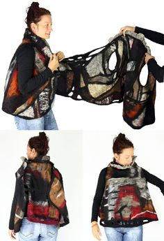double nuno felted vest- twice the fun of an ordinary vest!