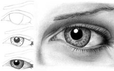 Eye-drawing tutorial by Sarah   A great and very detailed tutorial, to learn how to draw an eye in 30 steps