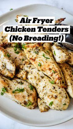 Air Fryer Oven Recipes, Air Frier Recipes, Air Fryer Dinner Recipes, Healthy Dinner Recipes, Cooking Recipes, Air Fryer Chicken Recipes, Easy Healthy Dinners, Air Fryer Chicken Tenders, Air Fry Chicken