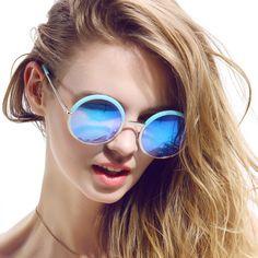 Fashion New Brand Designer Luxury Polarized Outdoor Sunglasses for Women Round Glasses Female Oculos De Sol Feminino with Box #Affiliate