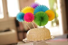 Transforming inexpensive party decorations into cute cake toppers! Robert Mahar's Festive Cake Toppers, DIY video