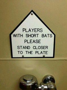 Bathroom sign for mancave