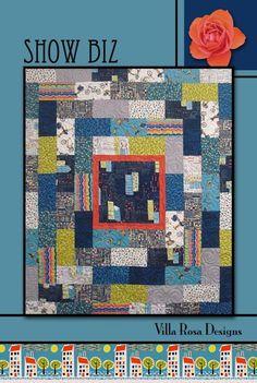 Show Biz quilt pattern by Pat Fryer, Villa Rosa Designs Patchwork Quilt Patterns, Scrappy Quilts, Quilt Patterns Free, Baby Quilts, Quilting Tutorials, Quilting Projects, Villa Rosa, Quilt As You Go, Fabric Yarn