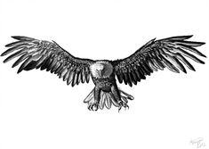 Eagle by x-celebril-x.devi… on Eagle by x-celebril-x.devi… on Eagle Back Tattoo, Eagle Wing Tattoos, Eagle Chest Tattoo, Small Eagle Tattoo, Wolf Tattoos, Leg Tattoos, Body Art Tattoos, Small Tattoos, Tattoos For Guys