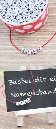 Einschulung Bastelidee Buchstaben Armband
