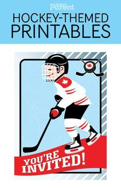 Want to throw a hockey-themed party, but not sure where to start? Get these already-made #printable invitations.