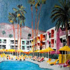 """Saatchi Art Artist Hervé CARRIOU; Painting, """"Saguaro Hotel"""" #art"""