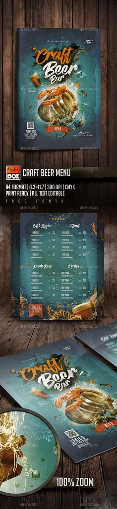 Beer Posters Set Fonts-logos-icons Pinterest Beer poster