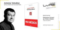 Lauréat du prix Médicis, Antoine Volodine est au #SDL2015 !