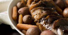 Slow Cooker Hasselback Apple Pork Loin