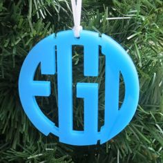 Acrylic Monogram Ornaments and Necklaces at MyCapitalLetters.com