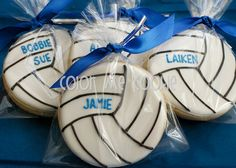 Personalized VOLLEYBALL SUGAR COOKIES 1 dozen by ColorMeCookies Volleyball Birthday Party, Volleyball Snacks, Volleyball Cookies, Volleyball Gifts, Coaching Volleyball, Volleyball Ideas, Volleyball Locker, Volleyball Drills, Volleyball Quotes