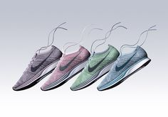 """The Nike Flyknit Racer is releasing before summer with its """"Macaron Pack"""" release on May 19th."""