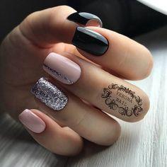 short nail design ideas for summer 2019 - . 81 short nail design ideas for summer 2019 - . 81 short nail design ideas for summer 2019 - . Маникюр белый с блёстками Stylish Nails, Trendy Nails, Short Nail Designs, Nail Art Designs, Nails Design, Gorgeous Nails, Perfect Nails, Amazing Nails, Cute Acrylic Nails